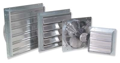 Florian Greenhouse Louver Intake Fans